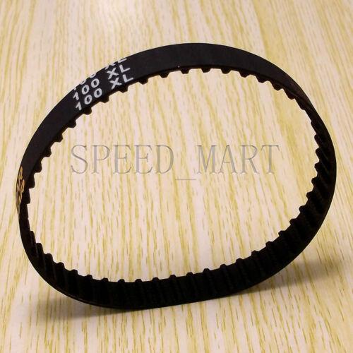100XL 100XL037 Timing Belt 50 Teeth Black Cogged Rubber Geared Belt 10mm Wide