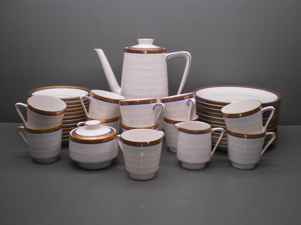 Scherzer service à café-cobalt Or - 38 pièces
