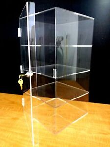 Acrylic-CUPCAKE-Stand-Showcase-Pastry-Bakery-Counter-Display-w-door-amp-lock-New