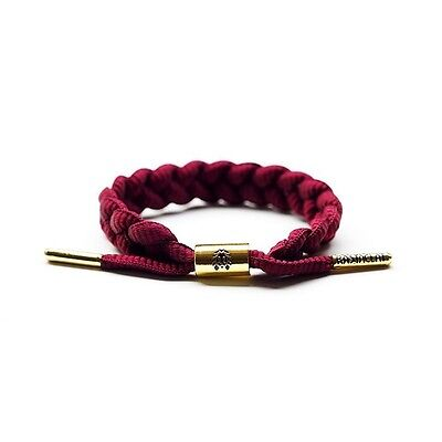 AUTHENTIC RASTACLAT MERLOT BURGUNDY BRAIDED SHOELACE WRISTBAND BRACELET JEWELRY