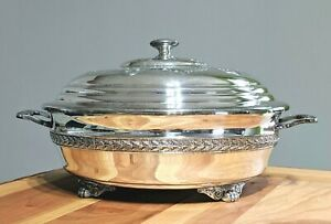 Monarch-Plate-Brand-9-60-Victorian-Silverplate-Round-Covered-Serving-Dish-Bowl