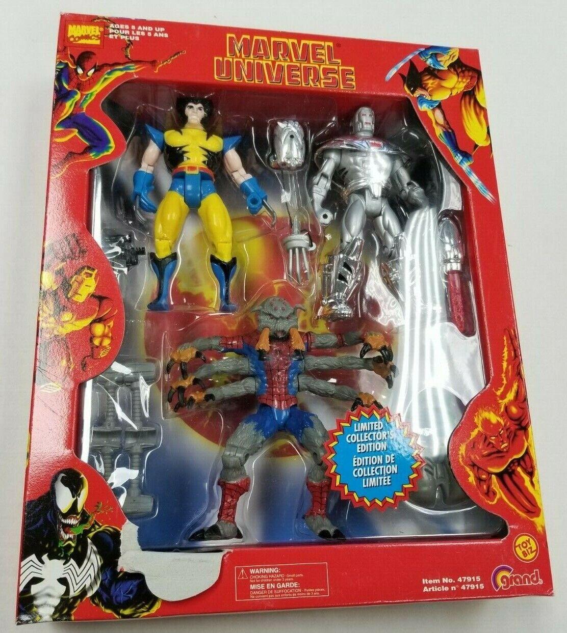 Marvel uomoSpider Wolverine giocattolo Biz arctic armor Ironuomo Collector's cifra set