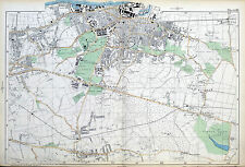 Original Antique Map of LONDO, WOOLWICH, PLUMSTEAD, ELTHAM, WELLING, Bacon,1904