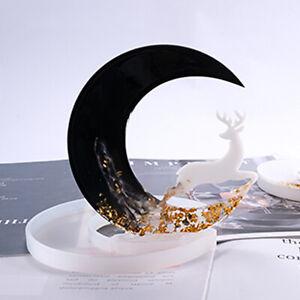 Harzform-Mond-Anhaenger-Giessen-Silikonform-DIY-Epoxy-Schmuck-Kunst-Bastel-Tool