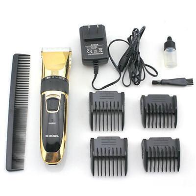 Rechargeable Professional Hair Clipper Blade Trimmer Salon Haircut Barber Cut MT