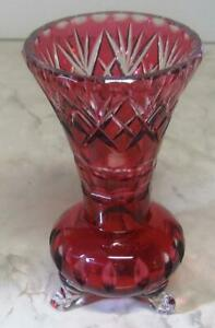 Vintage-cut-to-clear-Vase-cranberry-ruby-glass-7-034-h