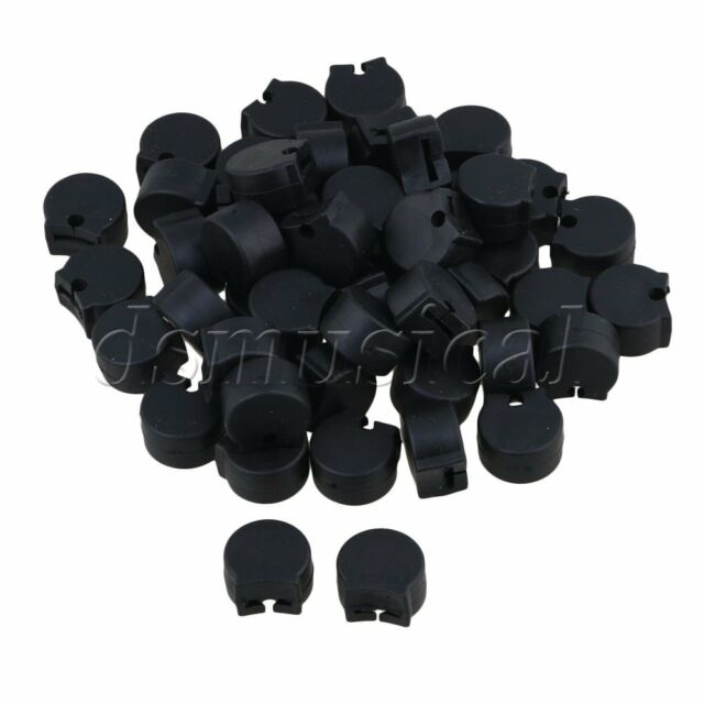 50 pieces rubber clarinet oboe thumb rest protectors black woodwind