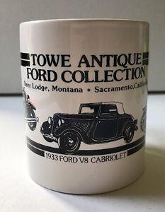 Towe Antique Fired Collection Mug Deer Lodge And Sacramento Souvenir Vtg