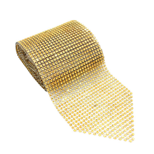 12*275cm Diamond Mesh Table Runner Wrap Roll Strass Ruban Mariage Fête Déc