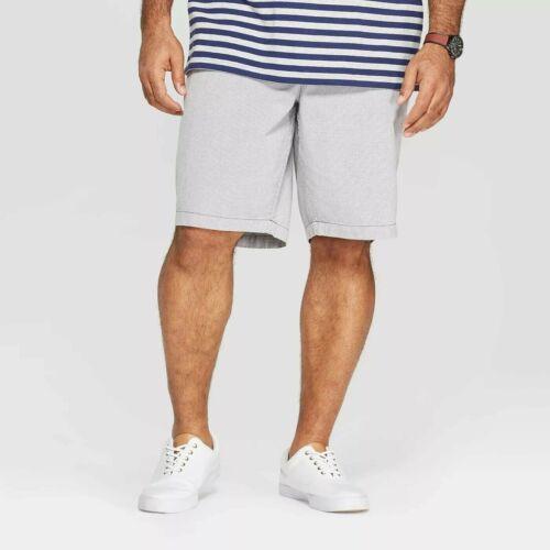 Goodfellow /& Co Men/'s Big /& Tall Slim Fit Chino Shorts Gray /& Dark Stripes 50