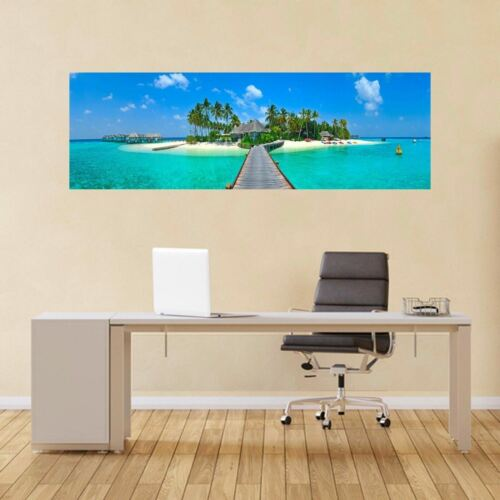 Maldives island panoramique wall sticker mural autocollant maison bureau salle couloir BC10