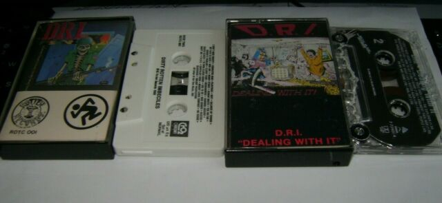 D. R. I. DRI - LOT of 2 Cassette TAPE Dealing With It & Dirty Rotten Imbeciles