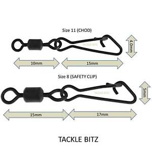 Snap-Link-Emerillons-Taille-8-et-11-Matt-Black-Peche-a-La-Carpe-Fin-Tackle-Rigs