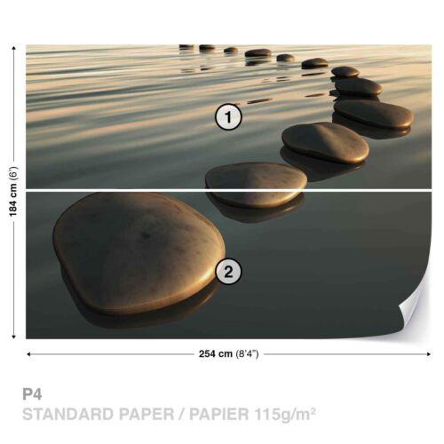 Tapete Fototapete Natur Landschaft Zen Steine im Wasser Wellness Harmonie