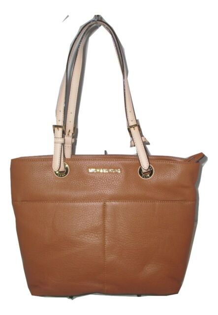 afad4a073738c7 Michael Kors 30h4gbft6l Bedford Luggage Leather Top Zip Pocket Tote 07026618