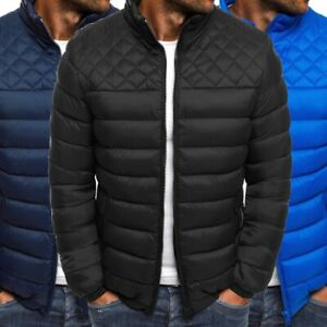 Puffer-Parka-Bubble-Jacket-Ultralight-Padded-Outwear-Bomber-Coat-Men-039-s-Quilted