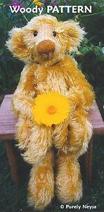 Mohair-Plush-034-Woody-034-a-Teddy-Bear-PATTERN-by-Neysa-A-Phillippi-Purely-Neysa