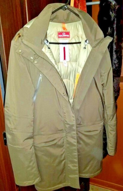 PARAJUMPERS Olive Green Down Freida Jacket X-Large