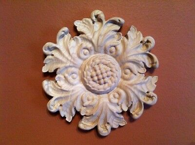 """Hand Carved Solid Hardwood Appliqué/Onlay Rosette. Fits in 4-1/8"""""""