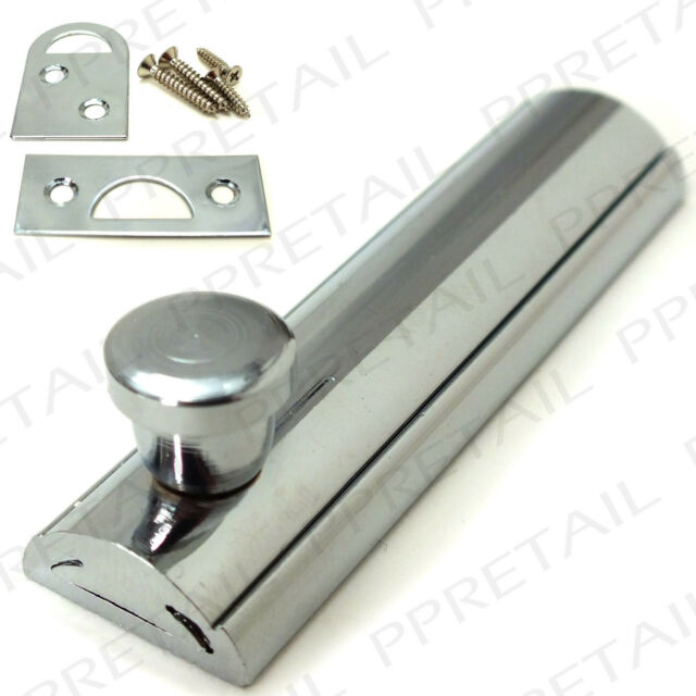 QUALITY FLAT SLIDING CABINET BOLT CHROME 63mm Door Cupboard Surface Latch/Lock