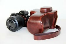 Coffee Leather Camera case bag For Sony Alpha A7S II, A7 II A7R II 24-70mm 28-70