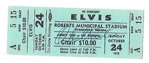 Elvis Presley Original Concert Tickek 10/24/76 Evansville, Indiana Fully  Intact | eBay