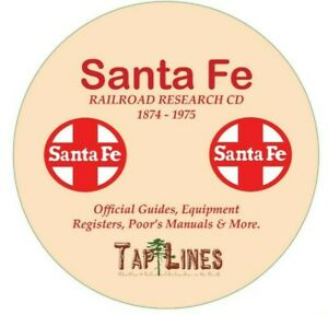 SANTA-FE-RAILROAD-AT-amp-SF-OFFICIAL-GUIDES-EQUIPMENT-REGISTERS-amp-RESEARCH-ON-DVD