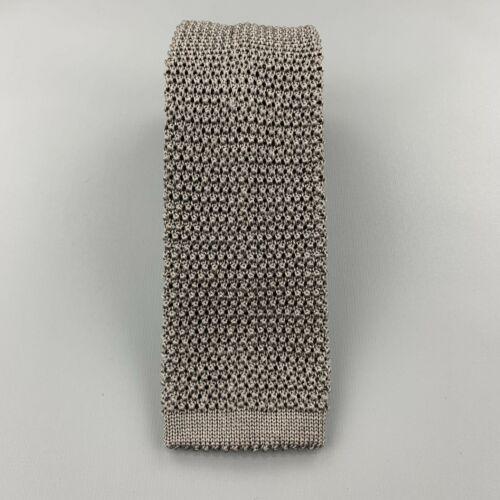 CHARVET Gray Silk Textured Knit Tie - image 1
