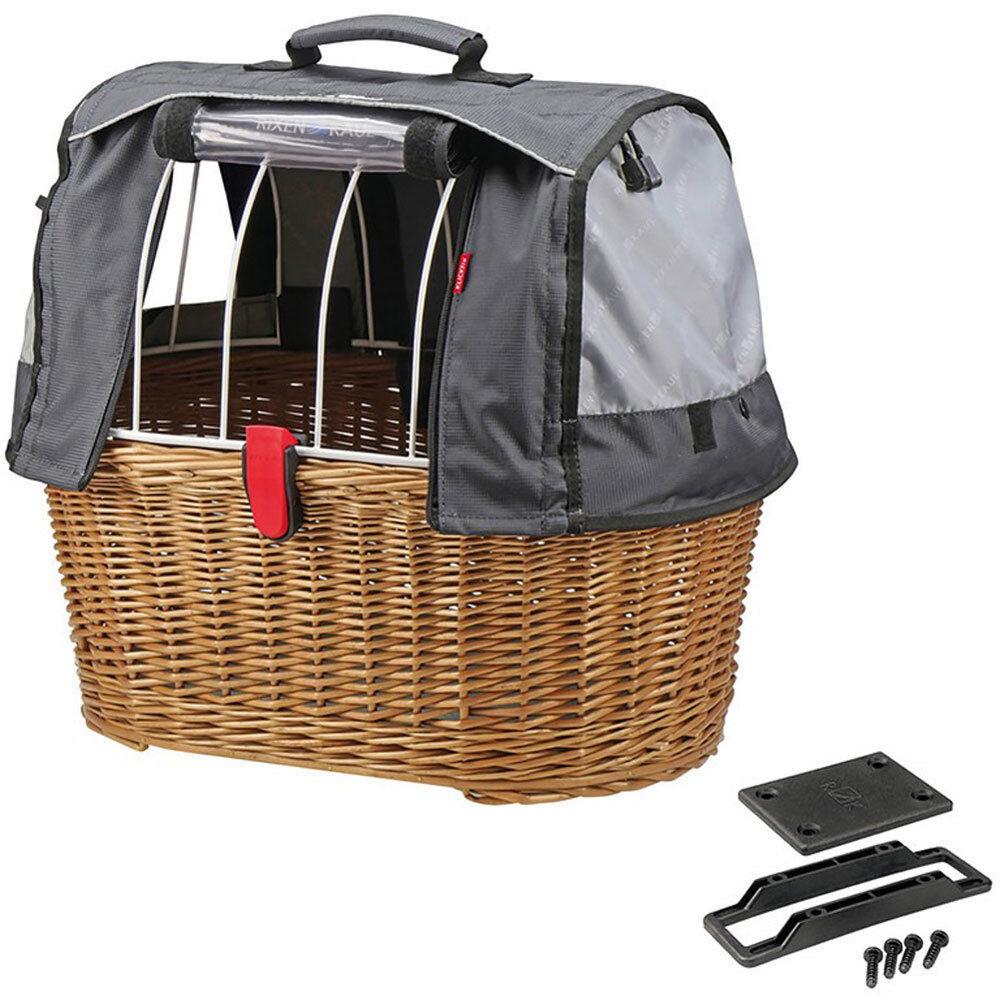 KLICKFIX Hundeshopper Doggy Basket Plus 45x52x36cm GTA braun Fahrrad