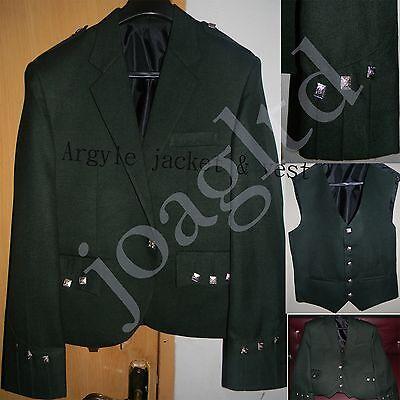 Iniziativa A Rombi Kilt Giacca E Gilet/gilet, Scozzese A Rombi Jacket-giacca Verde Argyle-, Scottish Argyle Jacket-green Argyle Jacket It-it Mostra Il Titolo Originale