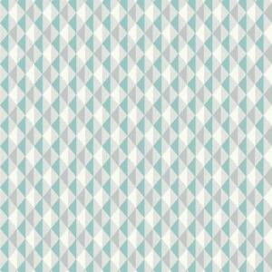Image Is Loading Rasch Harlequin Triangle Stripe Teal Kitchen Amp Bathroom