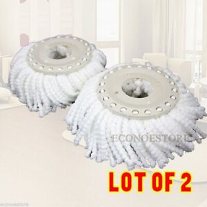 Lot-TWO-Replacement-Mop-Head-Refill-Micro-Fabric-For-Magic-Spin-Mop-360-Spin