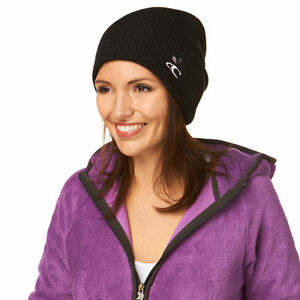 acc6cdb65d7 Oneill AC Solid Relax Womens Black Beanie Hat BNWT Boarding Skiing ...