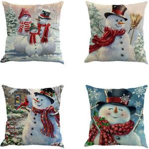 Christmas-Pillow-Cover-Decorative-Cotton-Linen-Pillow-Case-Soft-Cushion-Covers