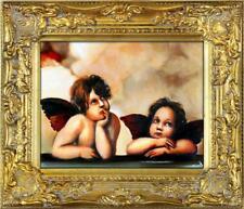 Engel Ölbild Bild Bilder Gemälde Ölbilder Mit Rahmen 28X33CM G04056