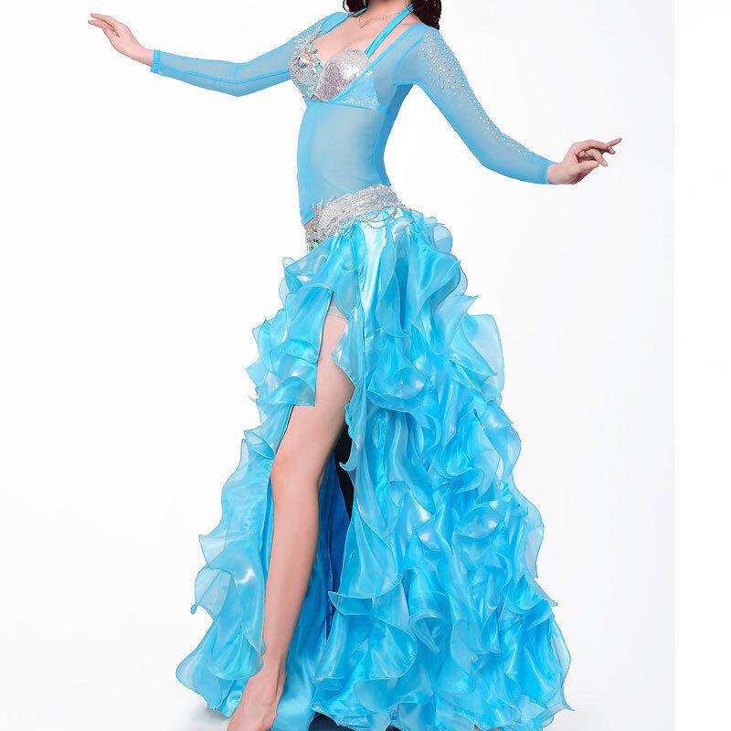 Profilo c927 danza del ventre costume 4 4 4 pezzi reggiseno con Cup D E + CINTURA + GONNA + TOP 89b875
