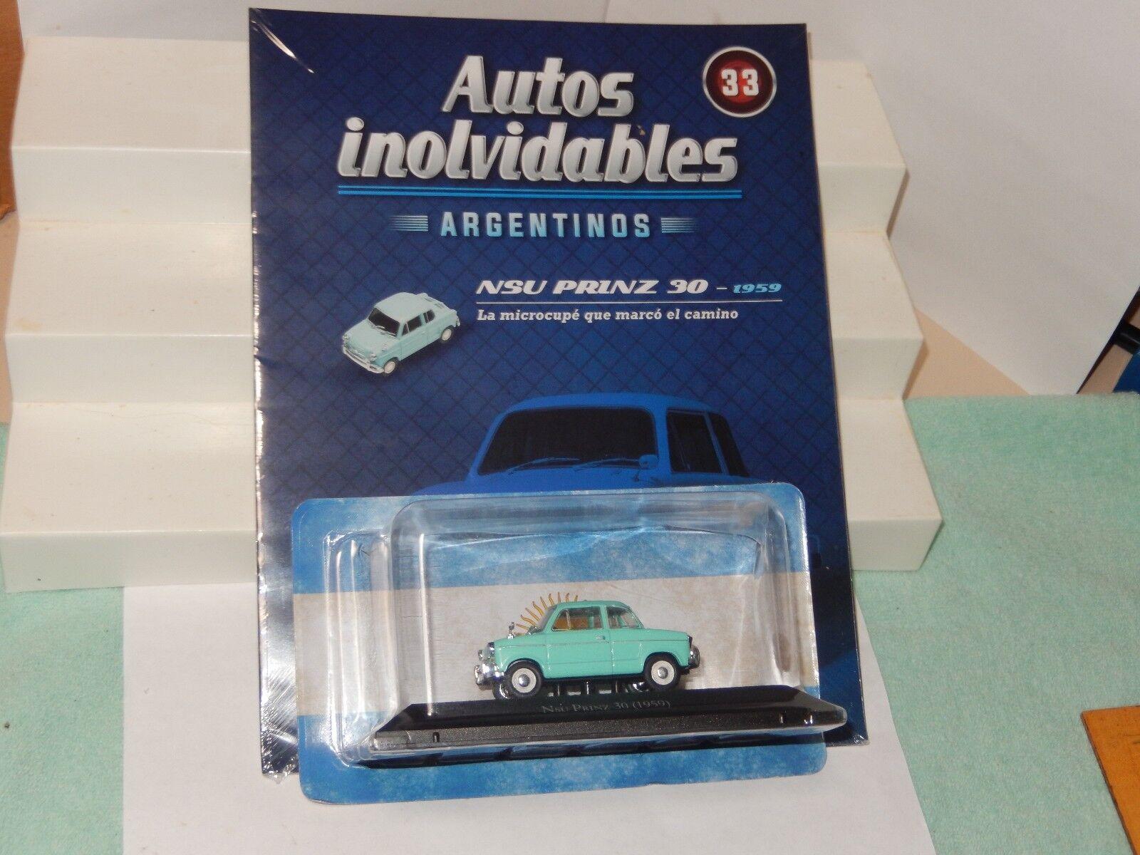 1959 NSU Prinz Diecast Car inolvidables silverina New Sealed 1 43 USA Seller