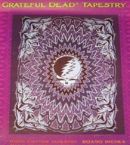 New Large Grateful Dead Steal Your Face Butterflies Design Tapestry Wall Hanging