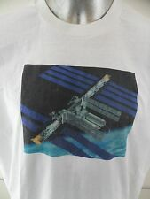 Space Station NASA Vintage 1990's XL Mens T Shirt Made in USA Rockets Outerspace