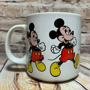 Disney-Mickey-Mouse-Animated-Walking-Dancing-Marching-Coffee-Mug-Vintage-Korea
