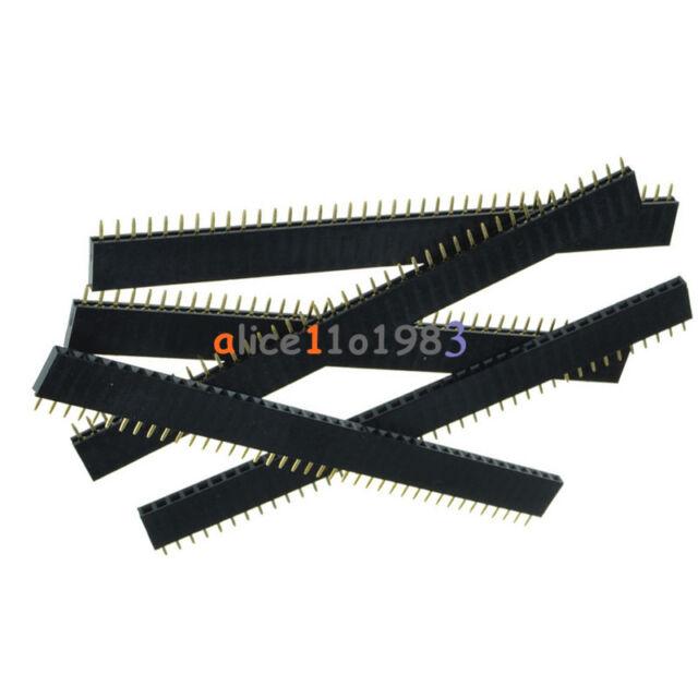 5PCS 40Pin 2.54mm  Single  Row Straight  Female Pin Header Strip PBC Ardunio