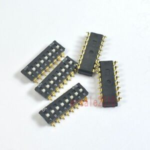 10pcs-2-54mm-Pitch-16-Terminals-8-Positions-Ways-Slide-Type-SMD-SMT-Switch-8-Bit