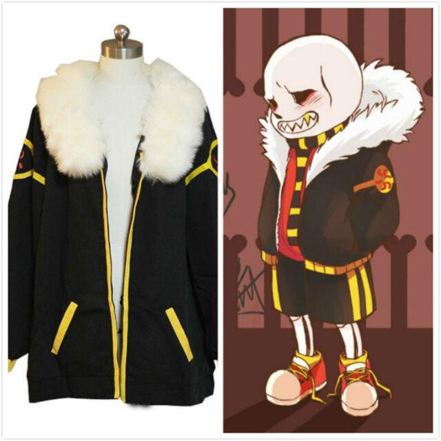 Undertale Frisk Fellsans Game Cosplay Costume Only Overcoat@SDS
