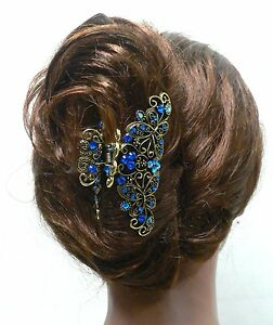 Kleidung & Accessoires New Silver Crystal high quality Metal Butterfly/flowers Hair Claw Clip Pin  8021