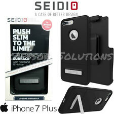 "Seidio Apple iPhone 7 Plus (5.5"") SURFACE COMBO Case W/ Belt-Clip Holster Black"