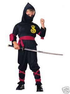 Image Is Loading Ninja Halloween Costume Child Size 4 6 New