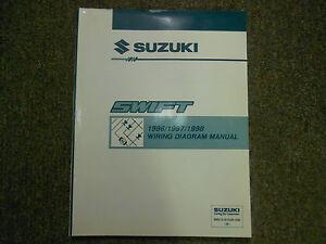 1996 1997 1998 suzuki swift wiring diagram service shop manual wiring schematics image is loading 1996 1997 1998 suzuki swift wiring diagram service