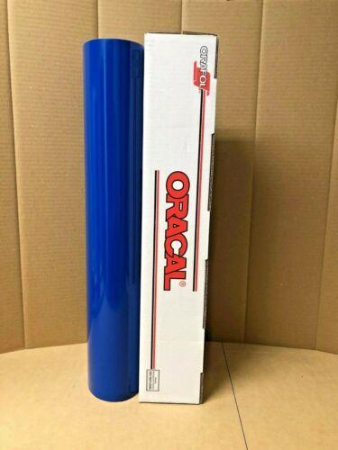 "30ft Oracal 651 1 Roll 24/"" x 10yd Blue 067 Gloss Sign Vinyl"