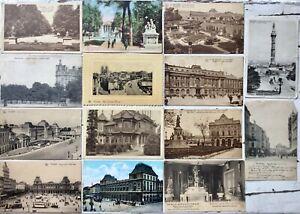 Brussels-Bruxelles-Brussel-14-vintage-antique-postcards-posted-and-stamped