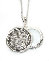 Serenity Prayer Inspirational Magnifying Glass Round Circle Long Necklace